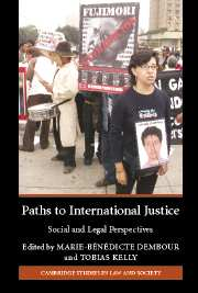 Paths to International Justice