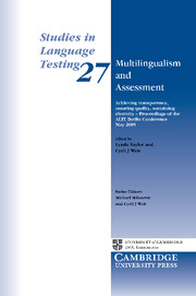 Multilingualism and Assessment
