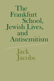 The Frankfurt School, Jewish Lives, and Antisemitism
