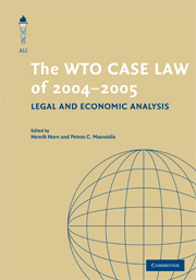 The WTO Case Law of 2004-5