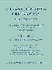 Logarithmetica Britannica