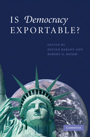 Is Democracy Exportable?