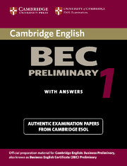 Cambridge BEC Preliminary, Vantage and Higher