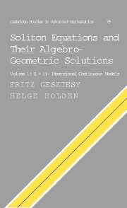 Soliton Equations and their Algebro-Geometric Solutions