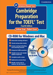 Cambridge Preparation for the TOEFL® Test Student CD-ROM
