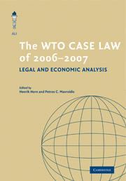 The WTO Case Law of 2006–7