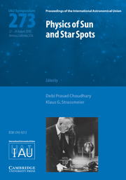 Physics of Sun and Star Spots (IAU S273)