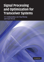 Signal Processing and Optimization for Transceiver Systems