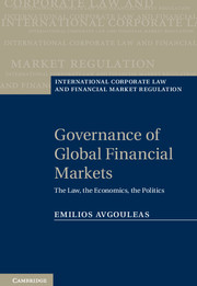 Governance of Global Financial Markets