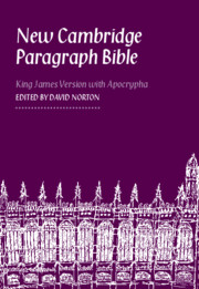New Cambridge Paragraph Bible with Apocrypha KJ590:TA