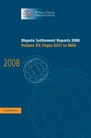 Dispute Settlement Reports 2008