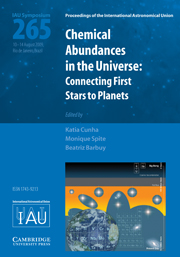 Chemical Abundances in the Universe (IAU S265)
