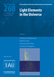 Light Elements in the Universe (IAU S268)