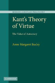 Kant's Theory of Virtue