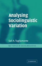 Analysing Sociolinguistic Variation