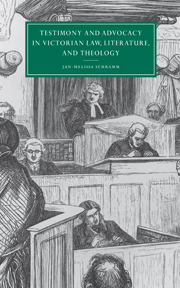 Testimony and Advocacy in Victorian Law, Literature, and Theology