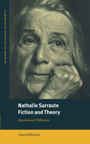 Nathalie Sarraute, Fiction and Theory