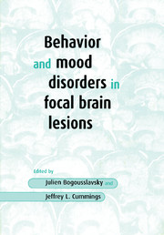 Behavior and Mood Disorders in Focal Brain Lesions