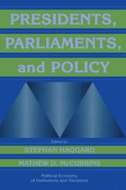 Presidents, Parliaments, and Policy