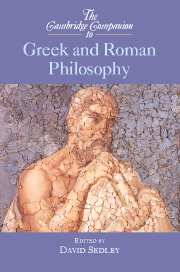 The Cambridge Companion to Greek and Roman Philosophy