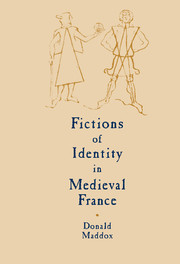 Fictions of Identity in Medieval France