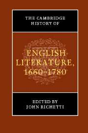 The Cambridge History of English Literature, 1660–1780