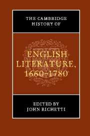 The Cambridge History of English Literature, 1660–1780