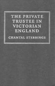 The Private Trustee in Victorian England