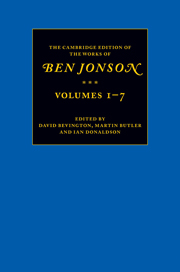 The Cambridge Edition of the Works of Ben Jonson