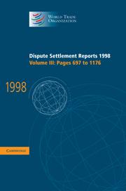 Dispute Settlement Reports 1998