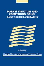 Market Structure and Competition Policy