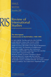 The Interregnum: Controversies in World Politics 1989–1999