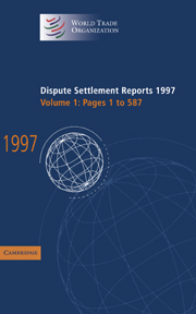 Dispute Settlement Reports 1997