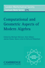 Computational and Geometric Aspects of Modern Algebra