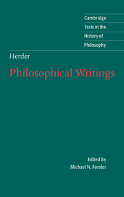 Herder: Philosophical Writings