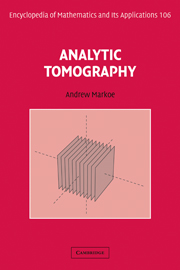 Analytic Tomography