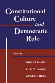 Constitutional Culture and Democratic Rule