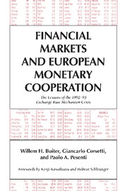 Financial Markets and European Monetary Cooperation