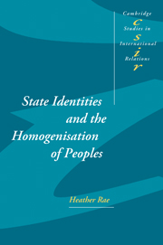 State Identities and the Homogenisation of Peoples