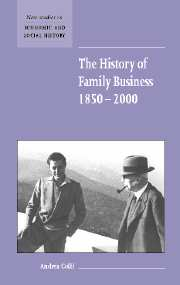 The History of Family Business, 1850–2000