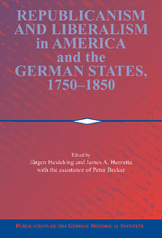 Republicanism and Liberalism in America and the German States, 1750–1850