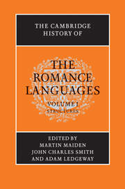 The Cambridge History of the Romance Languages