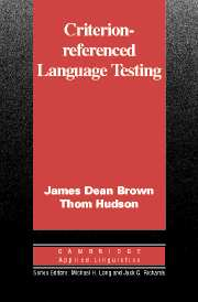 Criterion-Referenced Language Testing