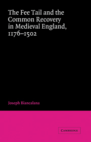 The Fee Tail and the Common Recovery in Medieval England