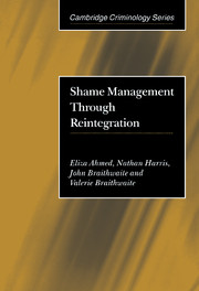 Shame Management through Reintegration