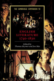 The Cambridge Companion to English Literature, 1740–1830