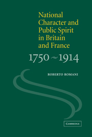 National Character and Public Spirit in Britain and France, 1750–1914