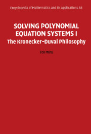 Solving Polynomial Equation Systems I