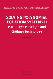 Solving Polynomial Equation Systems II