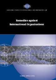 Remedies against International Organisations